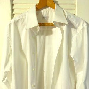 Ermenegildo zegna crisp white shirt